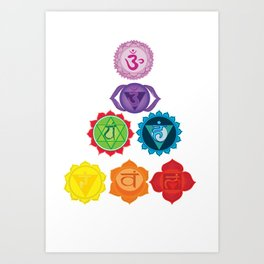 Seven Chakras Art Print