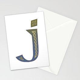 Celtic Knotwork Alphabet - Letter J Stationery Cards