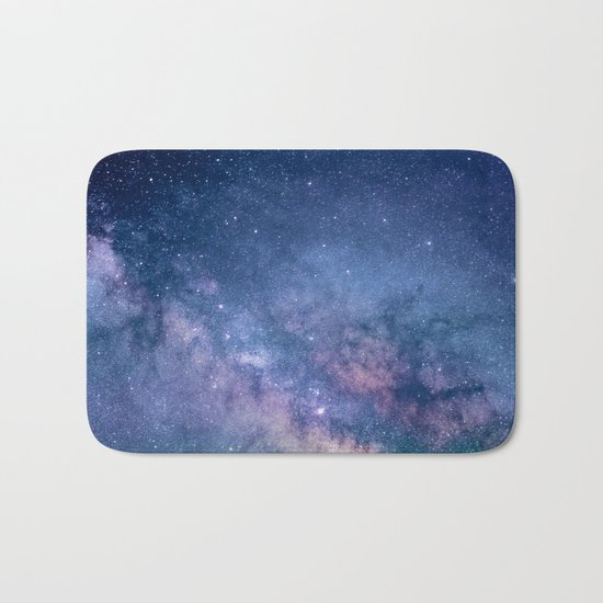 Milky Way Stars (Starry Night Sky) Bath Mat