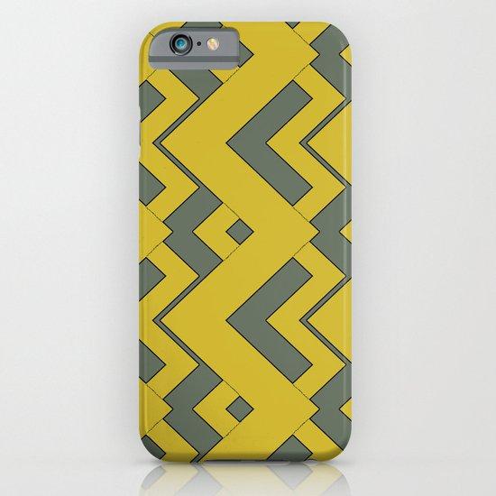 zig zag mustard iPhone & iPod Case