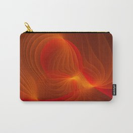 Much Warmth, Abstract Fractal Art Carry-All Pouch