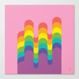 Design-y LGBTQ+ Pride Rainbow Canvas Print
