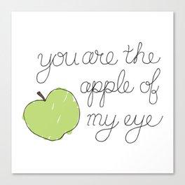The Apple of my Eye Canvas Print