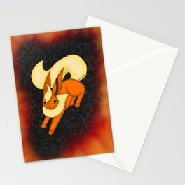 Flames of fire Stationery Cards