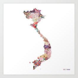 Vietnam map Art Print
