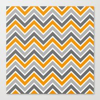 chevron Canvas Prints featuring Chevron by eARTh