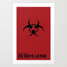 28 Days Later   Minimal Movie Poster Art Print