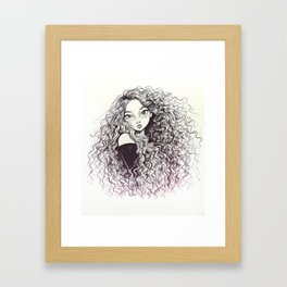 Curls Framed Art Print