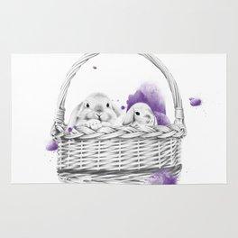 Basket Bunnies Rug