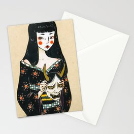 Hannya Japanese Colored Pencil Art Illustration Stationery Cards