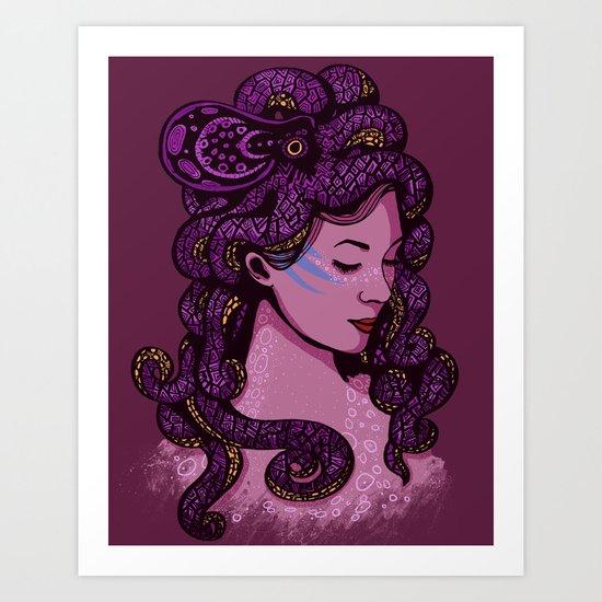 A Mermaid's Hair Art Print