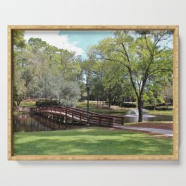 Scenic Pond Serving Tray