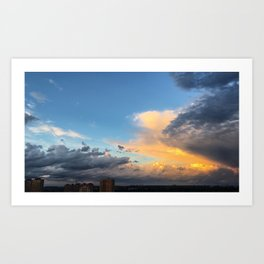 Clouds Obsessed Art Print