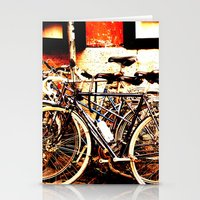 bikes Stationery Cards featuring bikes by Eva Lesko