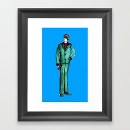 Beetles Green Dandy Framed Art Print