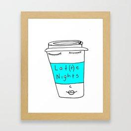 LAT(T)E NIGHTS Framed Art Print