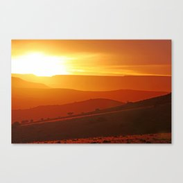 Golden morning in Africa Canvas Print