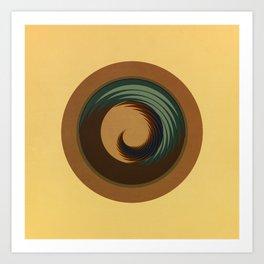 Circular Sophisticated Motion Art Print