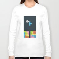 tetris Long Sleeve T-shirts featuring Tetris by sEndro