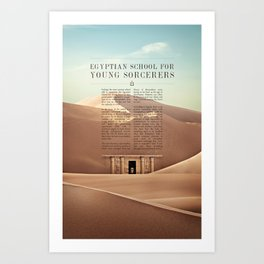 Wizarding Schools Around the World: Egypt Art Print