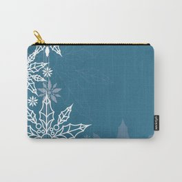 Holly tree snowflake Carry-All Pouch