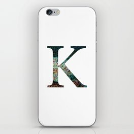 "Initial letter ""K"" iPhone Skin"