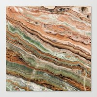 marble Canvas Prints featuring Marble by Santo Sagese