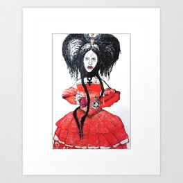 """""""Countess"""", ink on paper, 8x10 Art Print"""