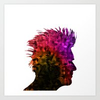 punk Art Prints featuring punk by KrisLeov