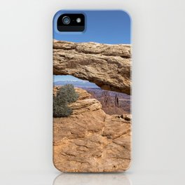 Clear Day at Mesa Arch - Canyonlands National Park iPhone Case