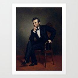 President Abraham Lincoln Painting Art Print