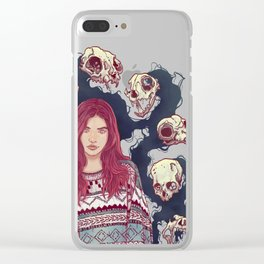Fearless  Lady Clear iPhone Case