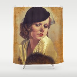 Jean Harlow, Vintage Actress Shower Curtain