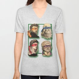 Renaissance Mutant Ninja Artists Unisex V-Neck