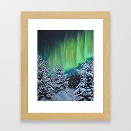 Northern Lights, Algonquin Park Framed Art Print