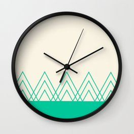 Mint Triangles Wall Clock