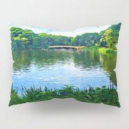 Central Park Bridge Over Peaceful Waters Pillow Sham