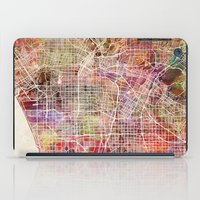 los angeles iPad Cases featuring Los angeles by MapMapMaps.Watercolors