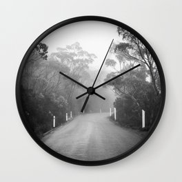 Mount Wellington Misty Road Wall Clock