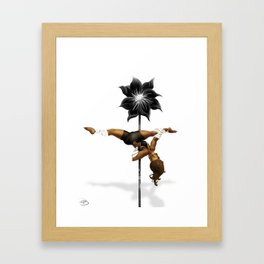 Pennys Shuriken Pole Dance Framed Art Print