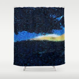 Blue Remembered Hills Revisited Shower Curtain