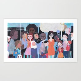 WHY AM I ME? SUBWAY SCENE Art Print