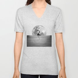 Nessie Starry Night II - Loch Ness Monster Unisex V-Neck