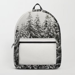 Winter Trees IV - Snow Capped Forest Adventure Nature Photography Backpack