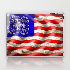 A wavy American flag Laptop & iPad Skin