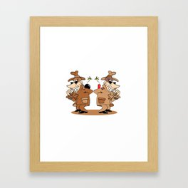 two spies Framed Art Print