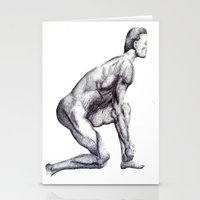 runner Stationery Cards featuring Runner by Eugene G