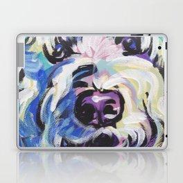 Golden Doodle Dog Portrait Pop Art painting by Lea Laptop & iPad Skin