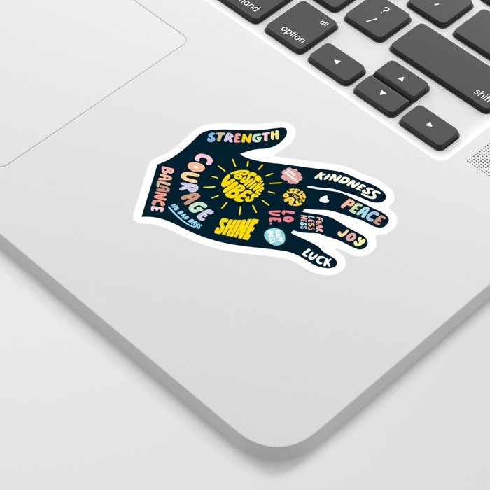 Positivity – Helping Hand Sticker
