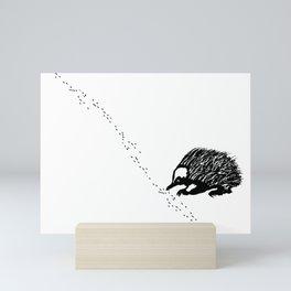 Echidna  (Tachyglossus aculeatus) Mini Art Print